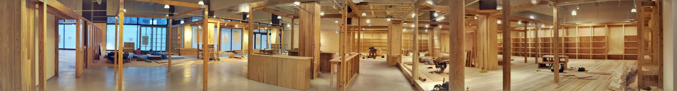 鹿児島の建材を使って店舗作り